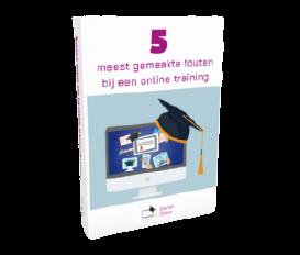 5 meest gemaakte fouten bij een online training